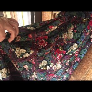 Floral secretary dress size 10 vintage